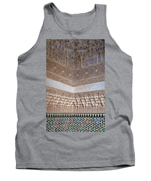Colorful Carved Corner Tank Top