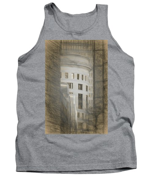 Round In A Square World Tank Top