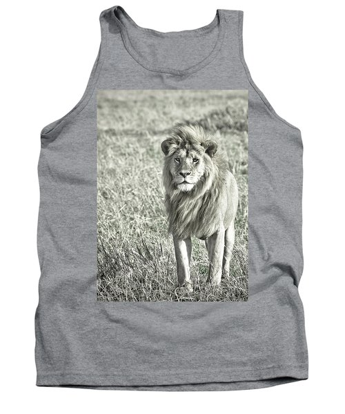 The King Stands Tall Tank Top by Darcy Michaelchuk