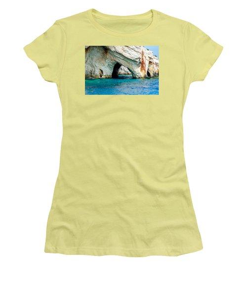 Blue Cave 4 Women's T-Shirt (Junior Cut) by Rainer Kersten