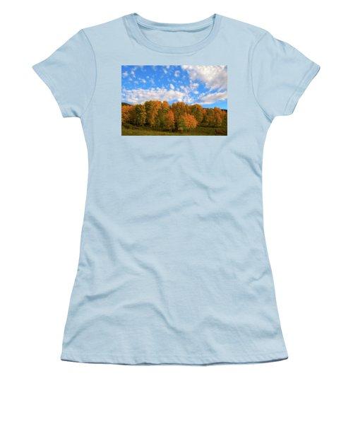Women's T-Shirt (Junior Cut) featuring the photograph Aspens by Steve Stuller