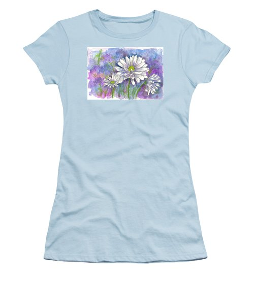 Women's T-Shirt (Junior Cut) featuring the painting Daisy Three by Cathie Richardson