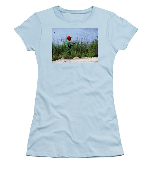 Fishing At Hickory Mound Women's T-Shirt (Athletic Fit)
