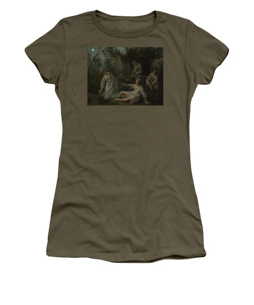 The Four Times Of Day   Evening Women's T-Shirt (Athletic Fit)