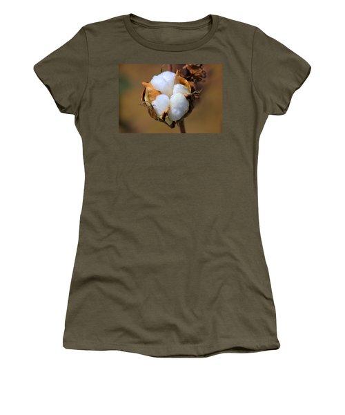 Cotton Boll Women's T-Shirt (Junior Cut) by Barry Jones