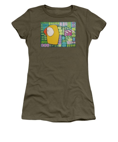 Women's T-Shirt (Junior Cut) featuring the painting Heading West by Donna Howard