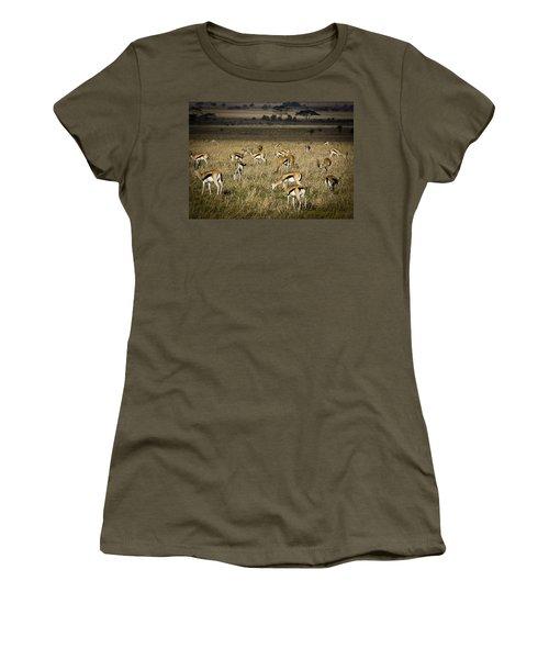 Herd Of Antelope Women's T-Shirt (Junior Cut) by Darcy Michaelchuk
