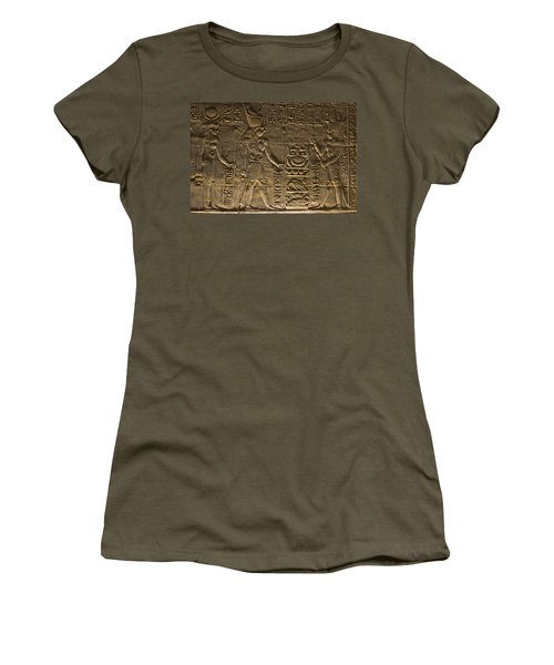 Hieroglyph At Edfu Women's T-Shirt (Junior Cut) by Darcy Michaelchuk