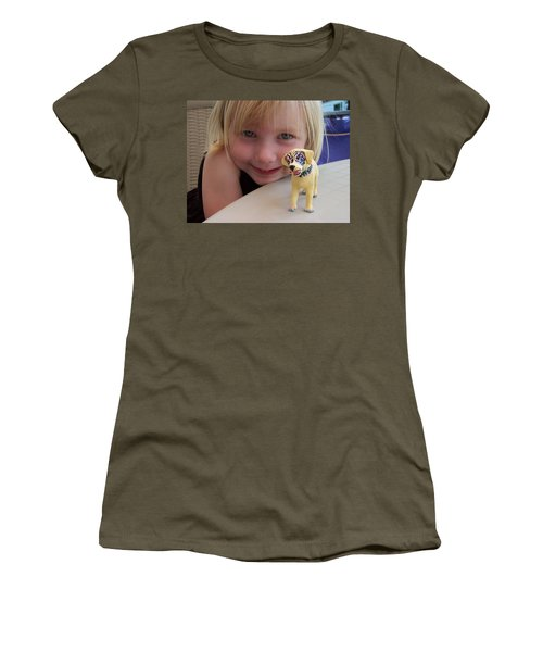 Lacey's Face Painted Dog Women's T-Shirt