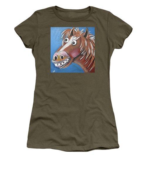 Mr Horse Women's T-Shirt (Athletic Fit)