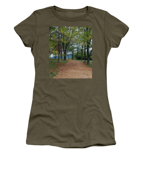 Women's T-Shirt (Junior Cut) featuring the photograph Pathway by Eric Liller