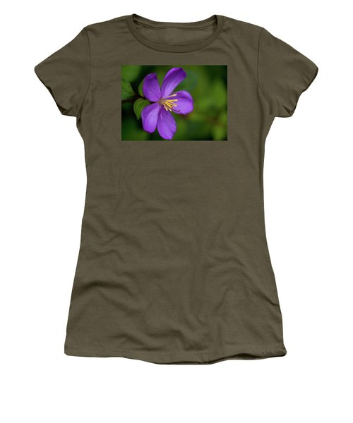 Purple Flower Macro Women's T-Shirt (Athletic Fit)