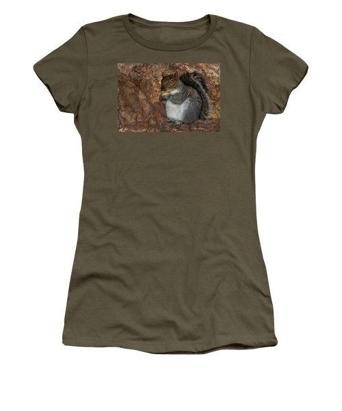 Women's T-Shirt (Junior Cut) featuring the photograph Squirrell by Pedro Cardona