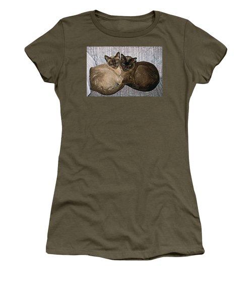 Tonkinese Pals Women's T-Shirt (Junior Cut) by Sally Weigand