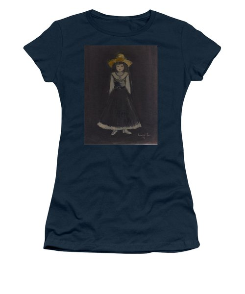 Women's T-Shirt (Junior Cut) featuring the painting Just A Beautiful Country Girl... by Laurie L