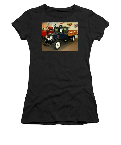 Women's T-Shirt (Junior Cut) featuring the photograph 1930 Chevrolet Stake Bed Truck by John Black