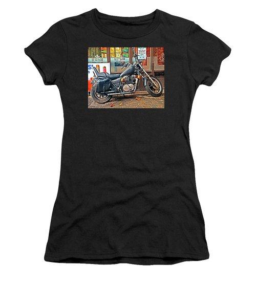 1983 Vt750 C Honda Shadow Women's T-Shirt (Junior Cut) by Greg Sigrist