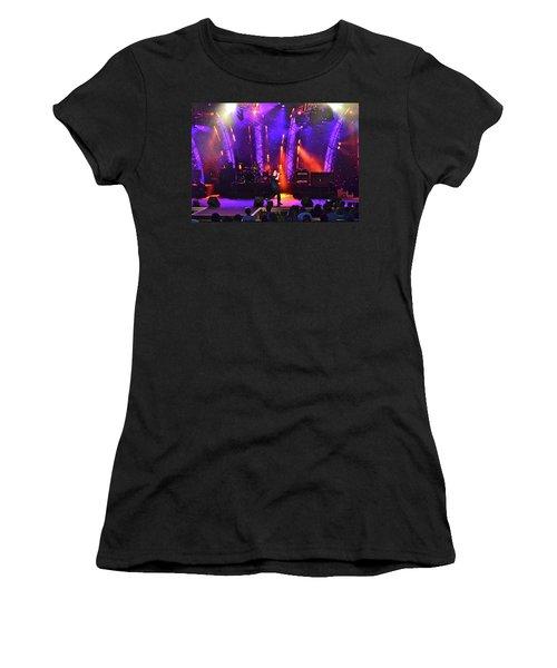 2u Does U2 Women's T-Shirt (Junior Cut) by Carol  Bradley