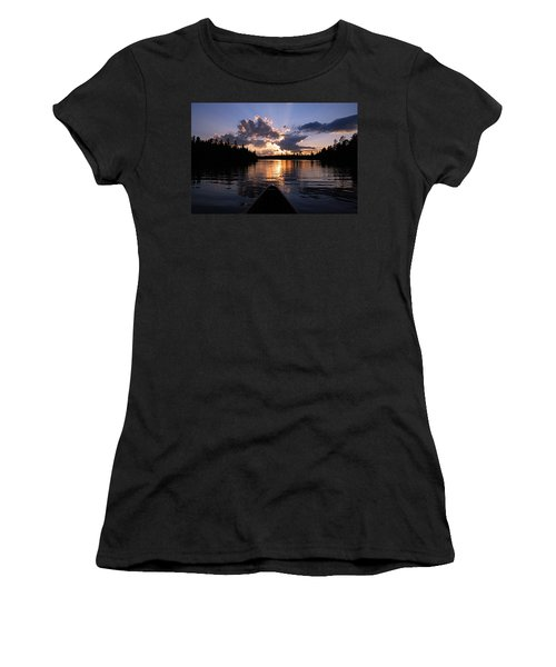 Evening Paddle On Spoon Lake Women's T-Shirt (Athletic Fit)
