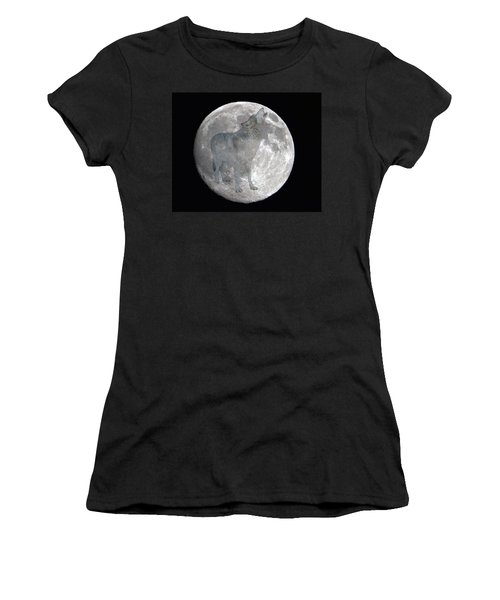 Howl At The Moon Women's T-Shirt (Athletic Fit)