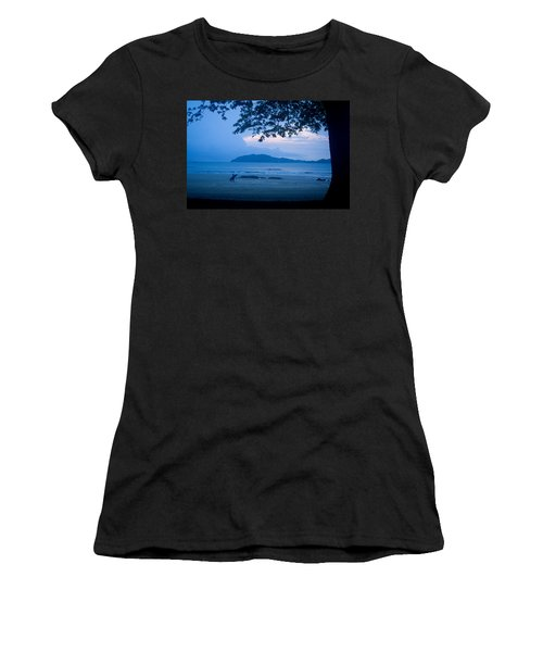 Strolling Surfer Women's T-Shirt (Junior Cut) by Todd Breitling