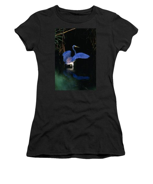 Tri-colored Heron - Fs000031 Women's T-Shirt (Athletic Fit)
