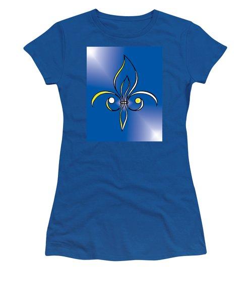 Fleur De Lis In Gold Women's T-Shirt (Junior Cut) by Alycia Christine
