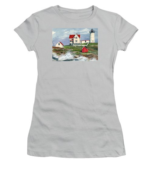 Cape Neddic Lighthouse  Women's T-Shirt (Athletic Fit)