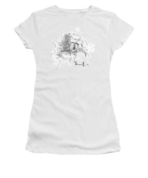 Women's T-Shirt (Junior Cut) featuring the drawing Question Of The Heart by Laurie L