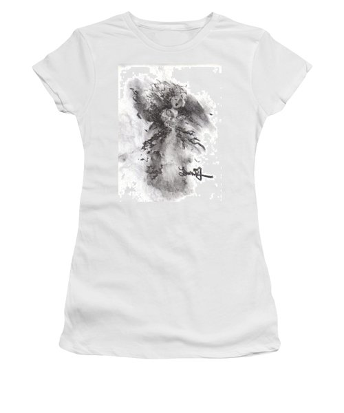 Women's T-Shirt (Junior Cut) featuring the drawing Rapture Of Peace by Laurie L