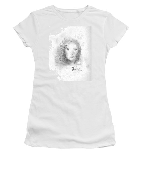 Women's T-Shirt (Junior Cut) featuring the drawing Something About Mary by Laurie L