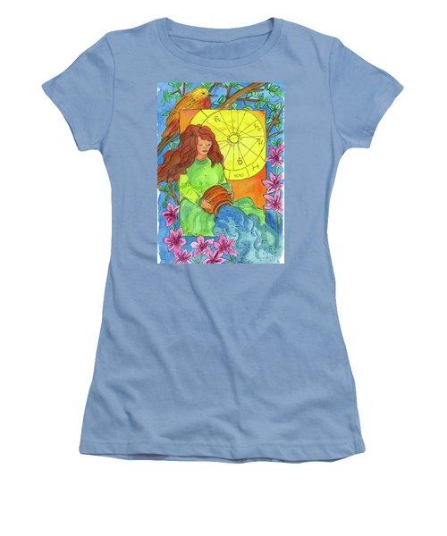 Women's T-Shirt (Junior Cut) featuring the painting Aquarius by Cathie Richardson
