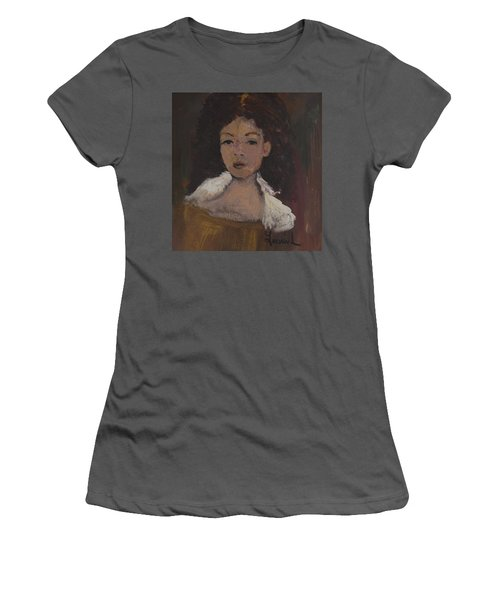 Women's T-Shirt (Junior Cut) featuring the painting Autumn Walking by Laurie L