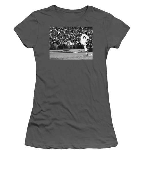 Tom Seaver (1944- ) Women's T-Shirt (Athletic Fit)