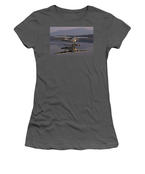 Reflections Of A Float Plane Women's T-Shirt (Junior Cut) by Darcy Michaelchuk
