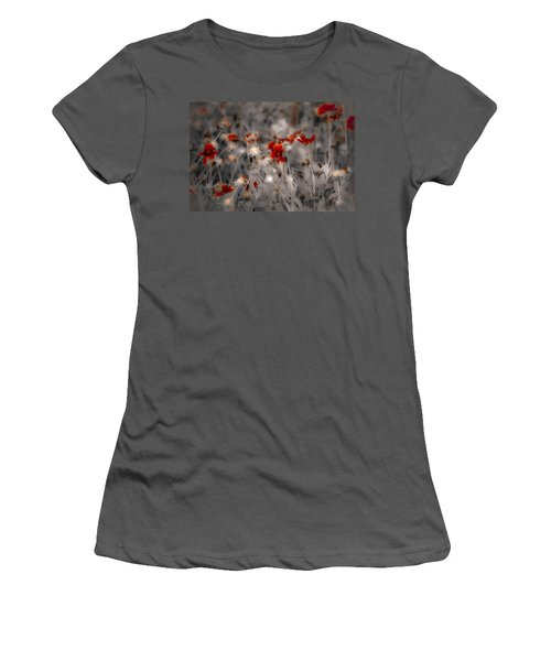 Wildflowers Of The Dunes Women's T-Shirt (Junior Cut) by DigiArt Diaries by Vicky B Fuller