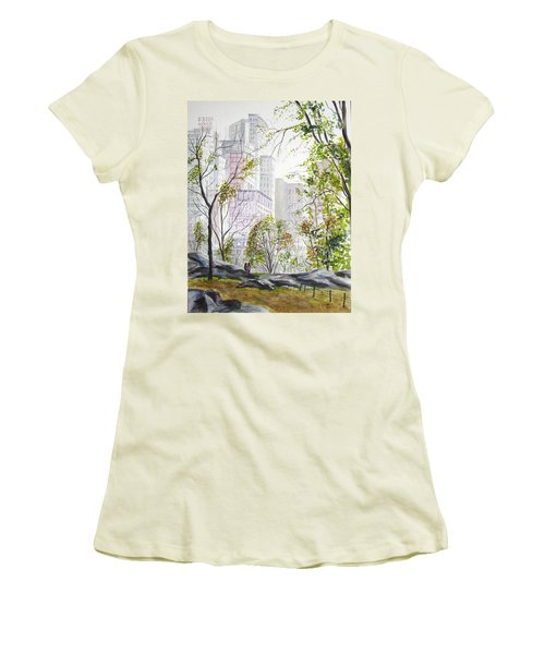 Central Park Stroll Women's T-Shirt (Athletic Fit)