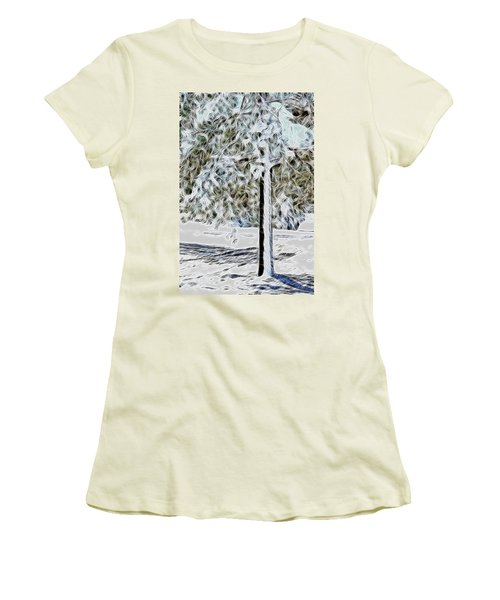 Snowy Tree Women's T-Shirt (Athletic Fit)