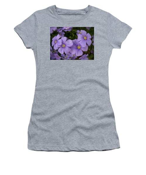Vinca Under Glass Women's T-Shirt (Junior Cut) by Sue Stefanowicz