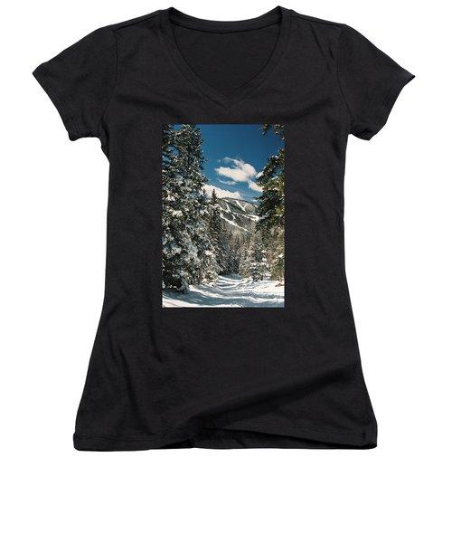 Fresh Powder Women's V-Neck T-Shirt