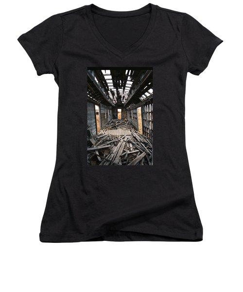 Ghost Train Women's V-Neck T-Shirt