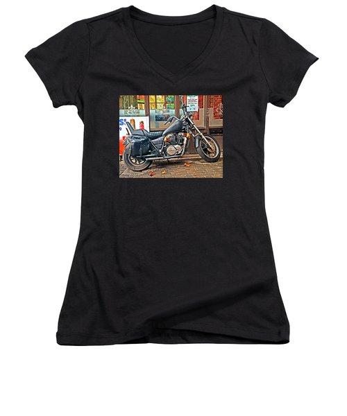1983 Vt750 C Honda Shadow Women's V-Neck T-Shirt (Junior Cut) by Greg Sigrist