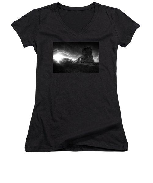 Bradgate Park At Dusk Women's V-Neck T-Shirt