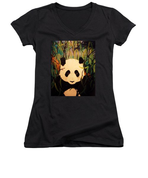 Endangered Panda Women's V-Neck