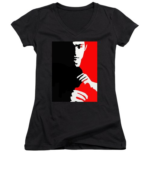 Enter The Dragon Women's V-Neck T-Shirt (Junior Cut) by Robert Margetts