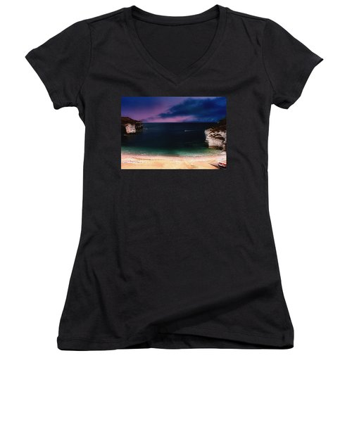 Evening On The Headland  Women's V-Neck
