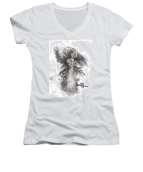 Rapture Of Peace Women's V-Neck T-Shirt (Junior Cut)