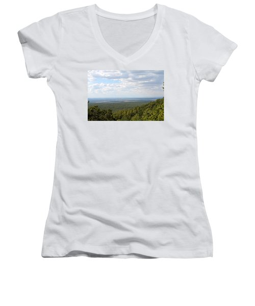 Overlooking Pinetop Women's V-Neck (Athletic Fit)