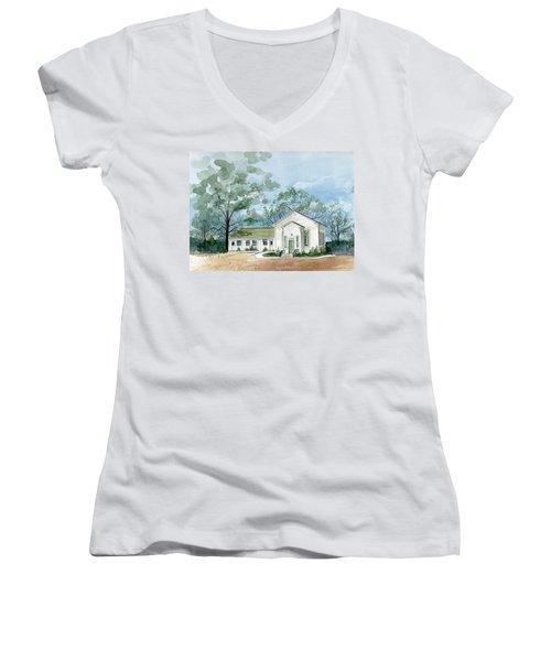 Sicklerville 1859 Church  Women's V-Neck (Athletic Fit)
