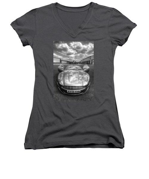 Aston Martin Dbs Women's V-Neck T-Shirt